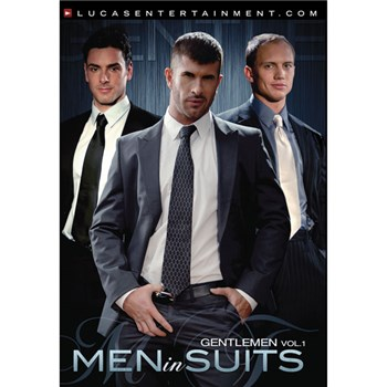 Men in suits having gay sex