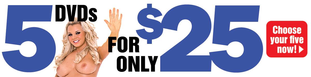 Get 5 DVDs for $25