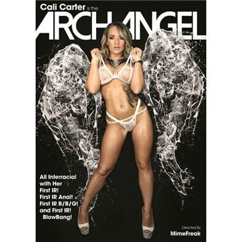 Blonde female in angel costume