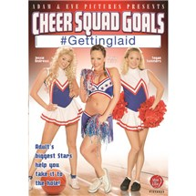 Three females in cheerleader costume