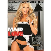 Blonde female in maid costume