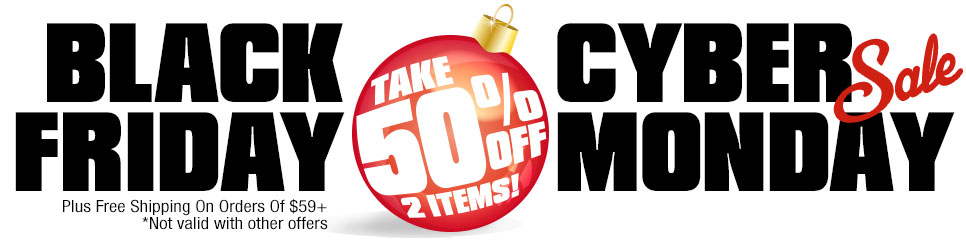Take 50% Off 2 Items Plus Get Free Shipping With Your Order Of $59+!