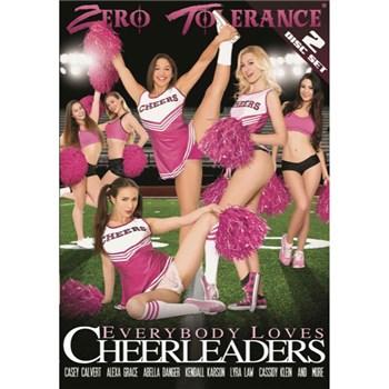 Multiple females in cheerleader outfits