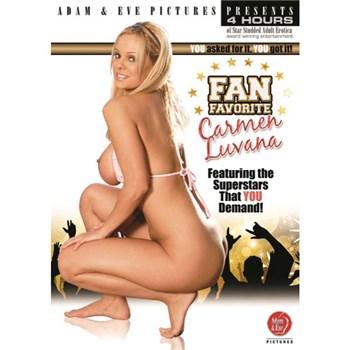Blonde female topless kneeling Carmen Luvana