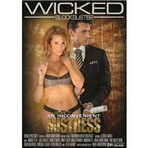 Blonde female in lingerie with male in suit Inconvenient Mistress