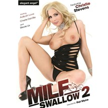 Blonde female topless in lingerie MILF Swallow 2