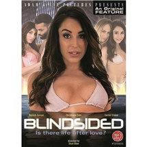 Brunette female wearing bra revealing cleavage Blindsided