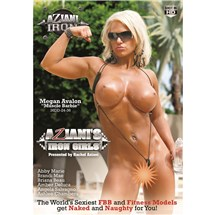 Blonde female body builder topless flexing muscles Aziani iron girls