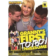 Blonde female with two males  Grannty First Boy Toy Threesome