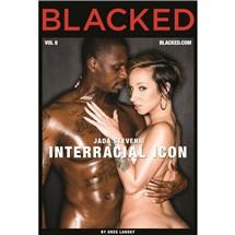 Brunette female caressing male Blacked