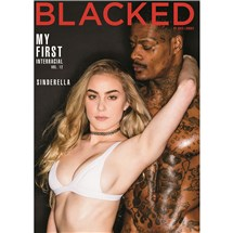 Blonde female wearing bra holding male My First Interracial
