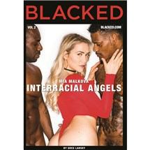Blonde female wearing lingerie with two males Interracial Angels