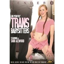 Brunette TS female wearing lingerie trans babysitters