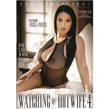 Brunette female posed seated wearing lingerie angela white watching my hotwife 4