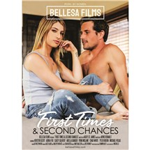 Female wearing top and jeans seated with topless male first time second chances