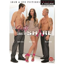 Brunette female with two topless males