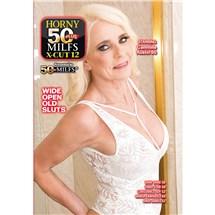 Blonde female posed wearing lingerie displaying cleavage horny 50 plus