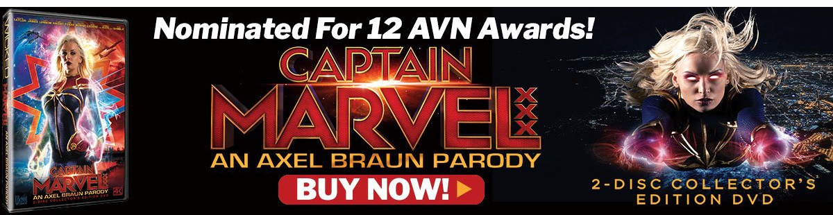 Nominated for 12 AVN Awards -- Get Captain Marvel: An Axel Braun Parody Today!