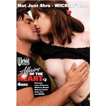 Topless female being caressed by male affairs of the heart