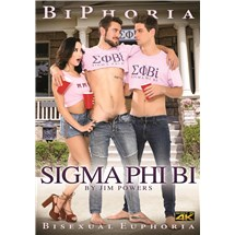 Female posing with two males sigma phi bi