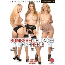 Three blonde females posed topless