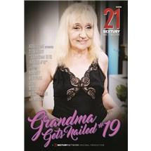 Blonde female posed wearing lingerie smiling at camera grandma gets nailed