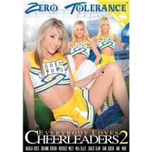 Three blonde females posing in cheerleader uniforms zero tolerance cheerleaders 2