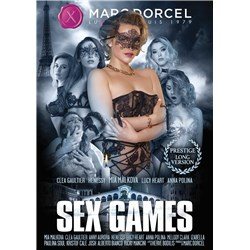 Female posed wearing lingerie and mask sex games