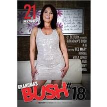 Brunette female posed wearing dress grandma bush