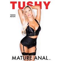 Blonde female posed wearing lingerie displaying cleavage tushy