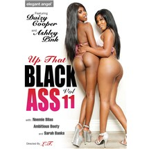 Two brunette females posed nude revealing buttocks black ass