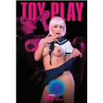 TS female posed displaying breasts toy play
