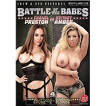 Brunette and Blonde females displaying breasts battle of the babes