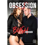 Brunette female wearing lingerie caressed by clothed male obsession