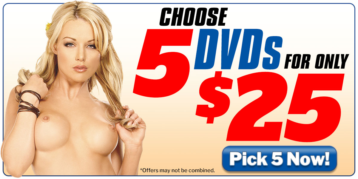 Choose 5 DVDs For Only $25!