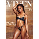 Brunette female posed wearing lingerie displaying cleavage vixen natural beauties