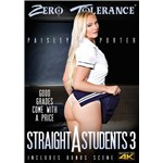 Blonde female posed raising skirt displaying buttocks straight a students