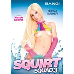 Blonde female posed revealing breasts squirt squad
