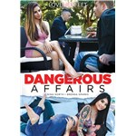 Brunette female seated at table with male dangerous affairs